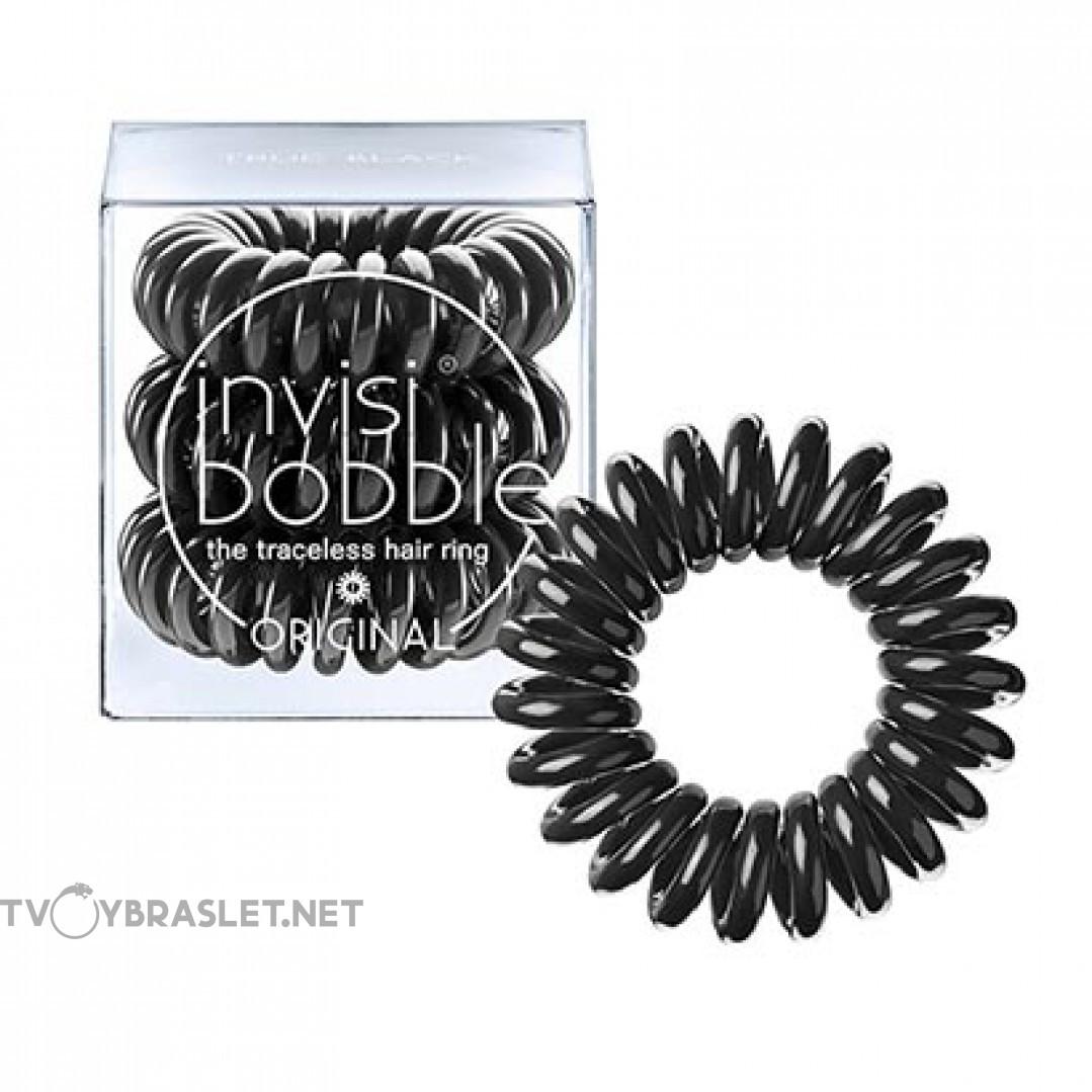 Резинка-браслет для волос invisibobble Original True Black Черный 3 шт