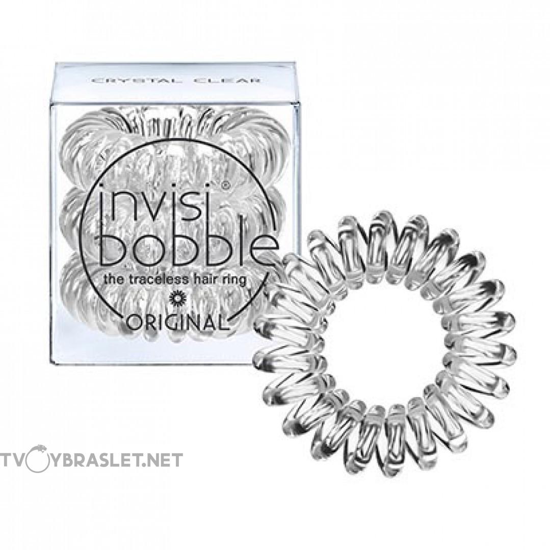 Резинка-браслет для волос invisibobble Original Crystal Clear Прозрачный 3 шт