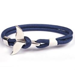 Браслет с якорем Хвост кита синий Твой Браслет ANC017