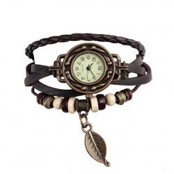 Браслет часы кварц кожа коричневый Твой браслет CLC104