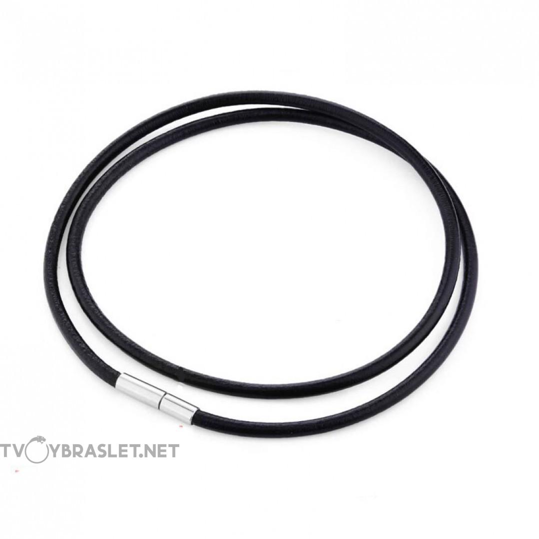 Шнурок кожаный на шею 60 см гладкий Твой Браслет LC101-60-3
