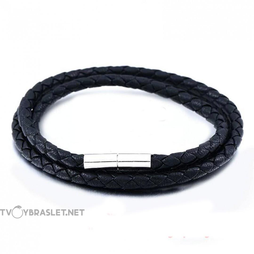 Шнурок кожаный на шею 60 см плетеный  Твой Браслет LC103-60-3