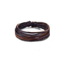 Браслет кожаный многослойный коричневый Твой Браслет LTH003