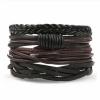 Комплект кожаных браслетов 4 шт LTH005
