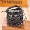 Комплект кожаных браслетов 5 шт LTH006