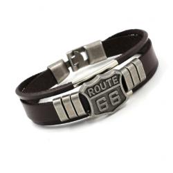 Браслет кожаный коричневый Твой Браслет Route 66 LTH022