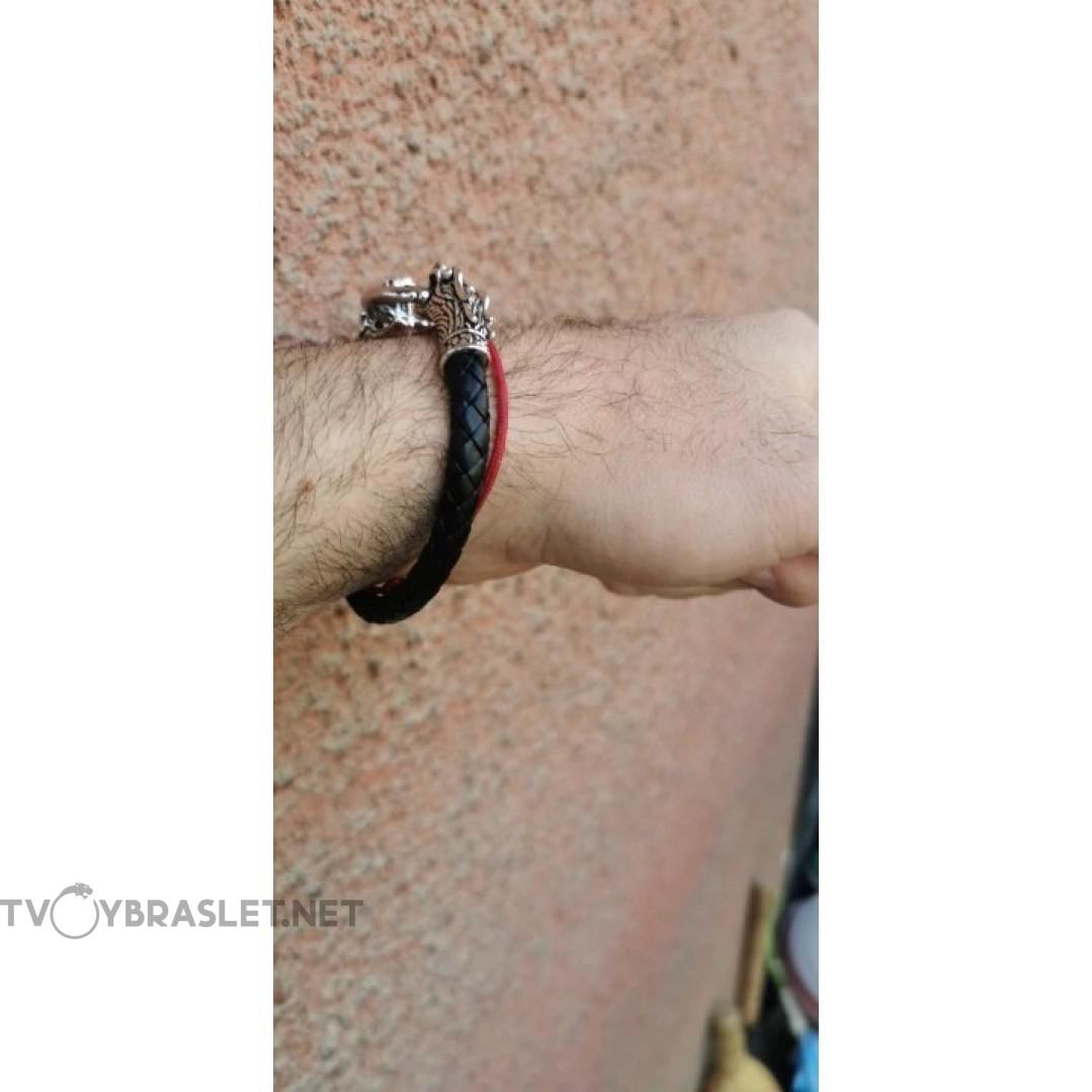 Браслет кожаный Кольцо Дракона 20 см Твой Браслет LTH039