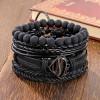 Комплект кожаных браслетов 4 шт LTH040
