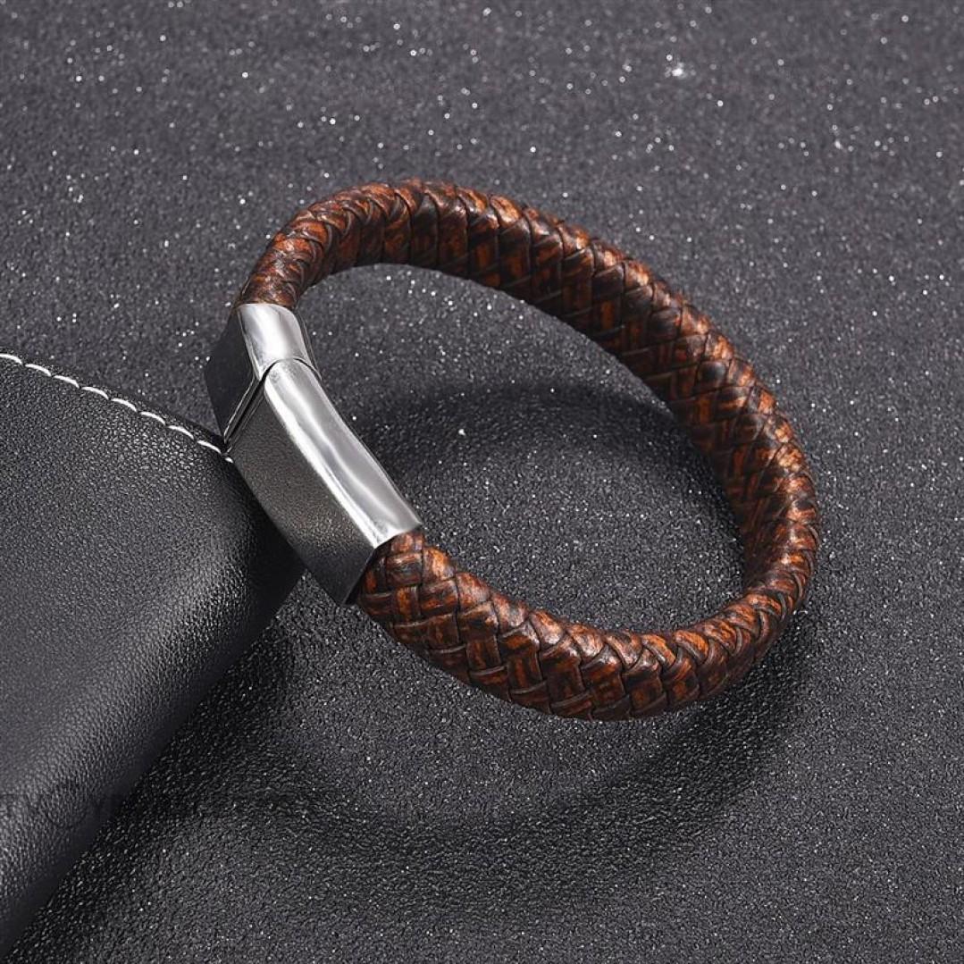 Браслет кожаный коричневый с магнитной  застежкой Твой Браслет LTH060