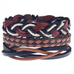 Комплект кожаных браслетов Твой Браслет 3 шт LTH128