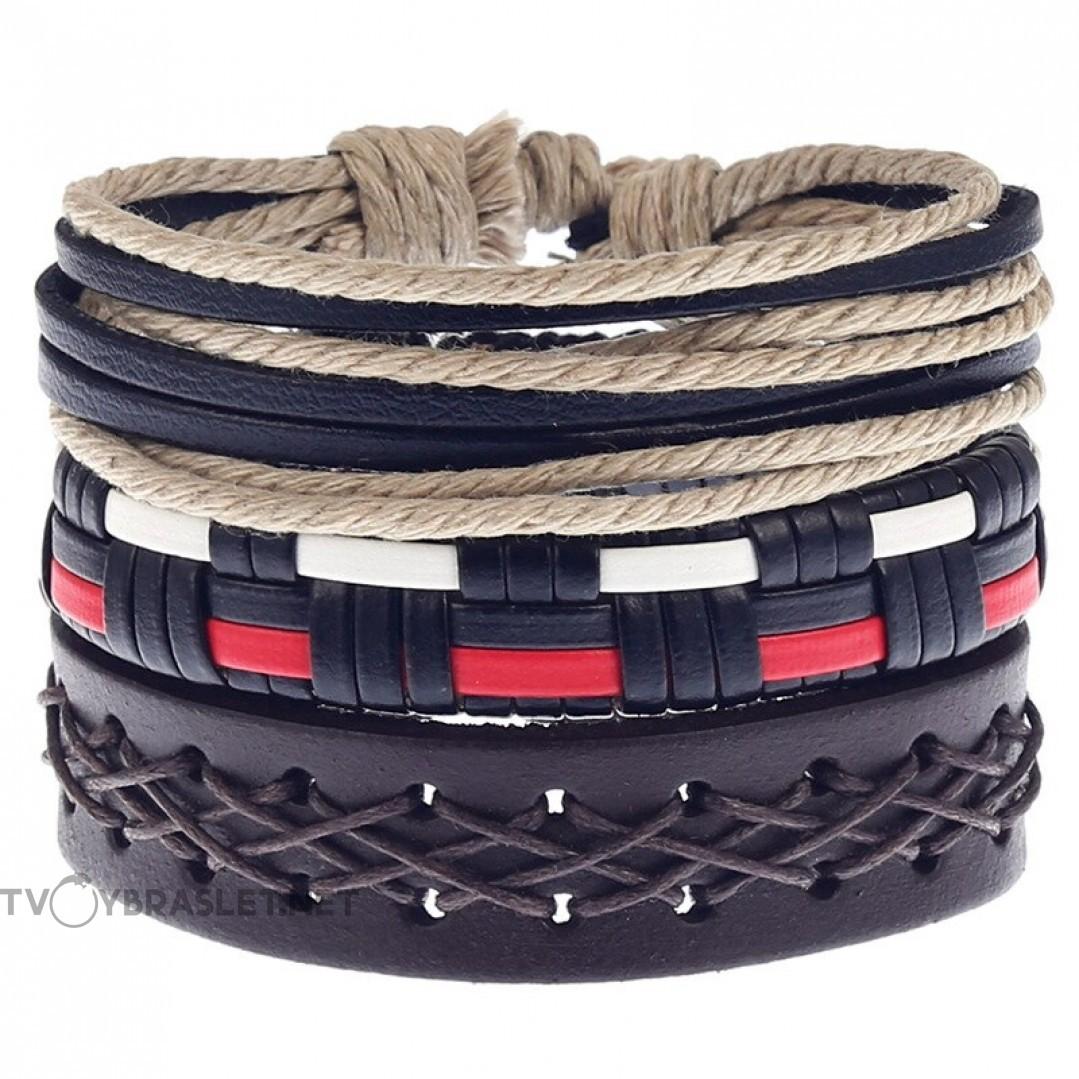 Комплект кожаных браслетов Твой Браслет 3 шт LTH129
