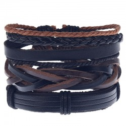 Комплект кожаных браслетов Твой Браслет 3 шт LTH130