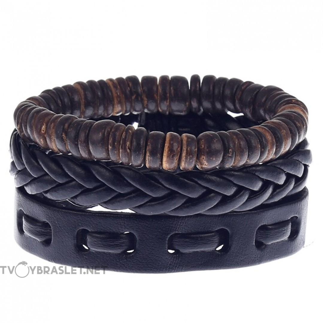 Комплект кожаных браслетов Твой Браслет 3 шт LTH131