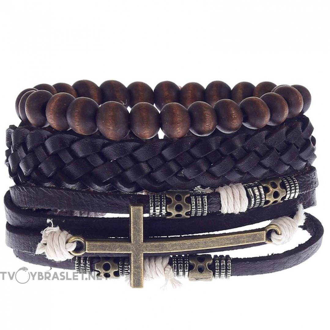 Комплект кожаных браслетов Твой Браслет 3 шт LTH132