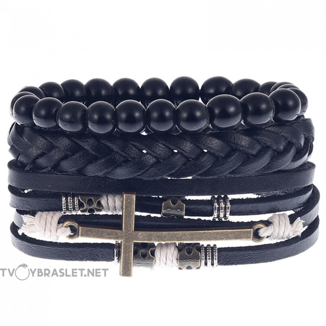 Комплект кожаных браслетов Твой Браслет 3 шт LTH133