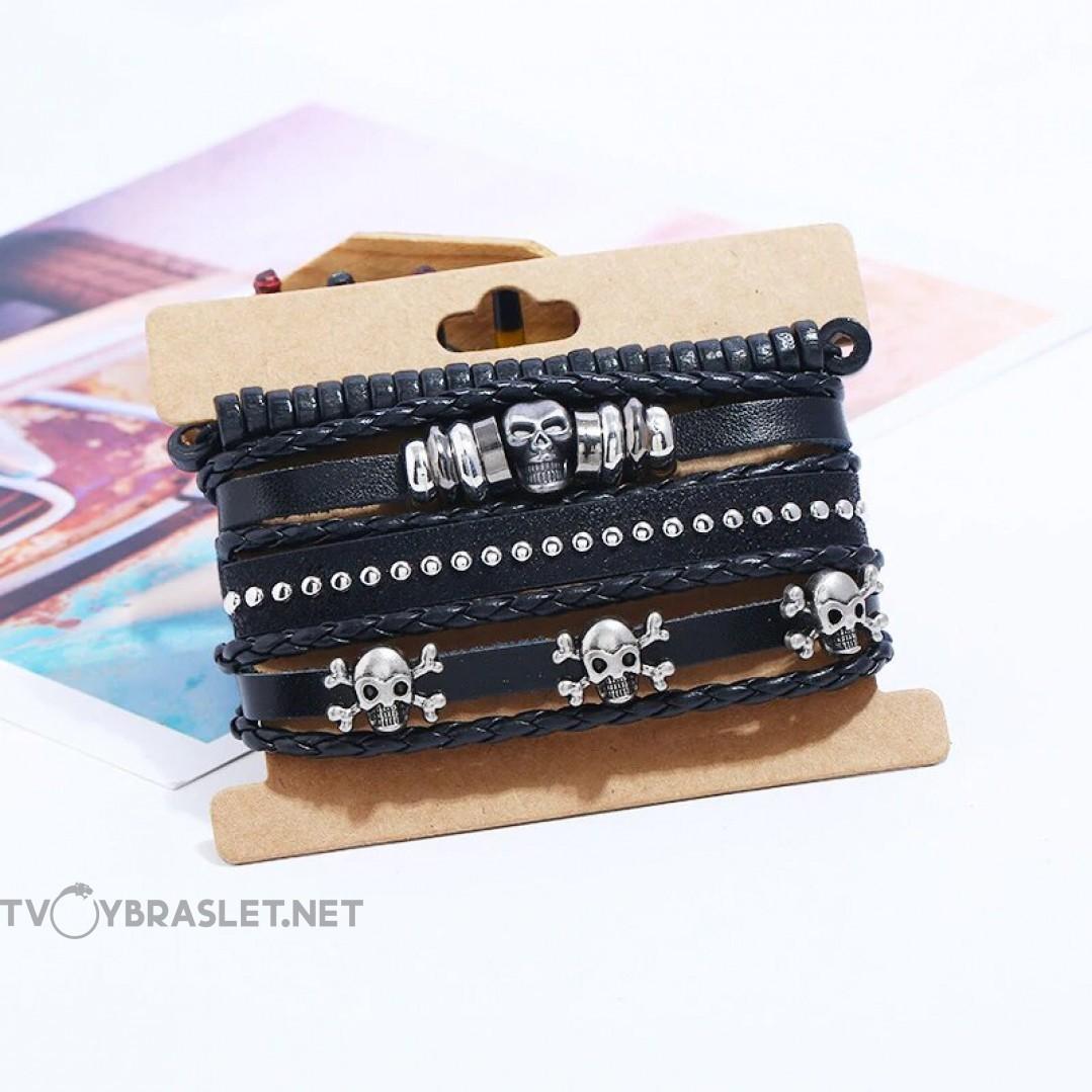 Комплект кожаных браслетов 4 шт Твой Браслет LTH212