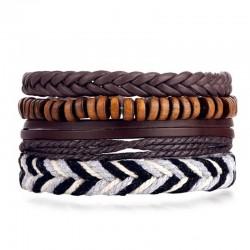 Комплект кожаных браслетов 4 шт Твой Браслет LTH214