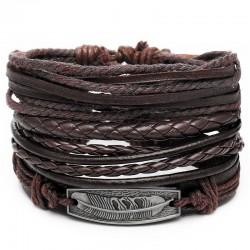Комплект кожаных браслетов 4 шт Твой Браслет LTH215