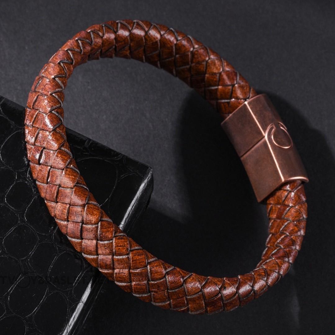 Браслет кожаный коричневый Vintage Copper Твой Браслет LTH236