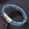 Браслет из кожи с когтями дракона бледно-голубой Твой Браслет LTH242