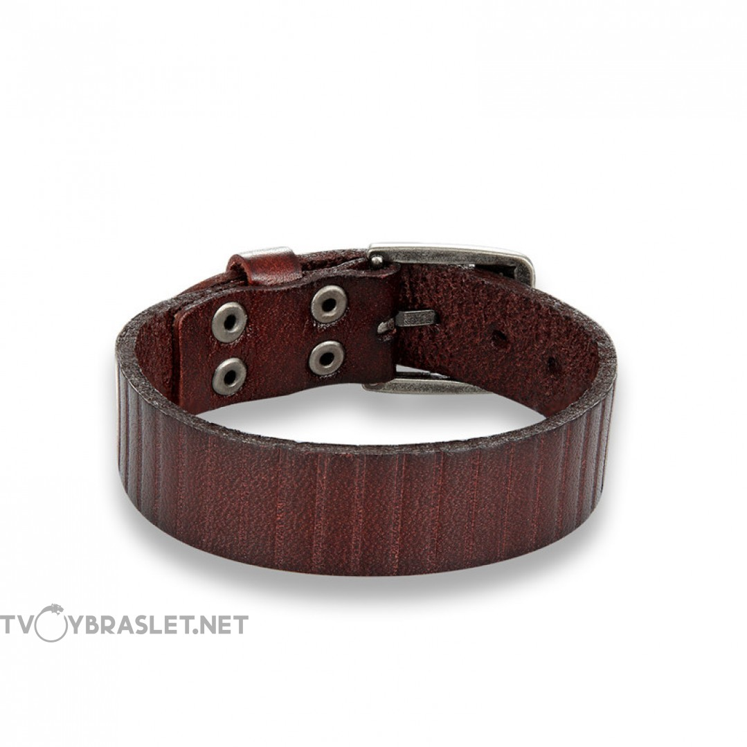 Браслет-ремень коричневый натуральная кожа Твой Браслет LTH246