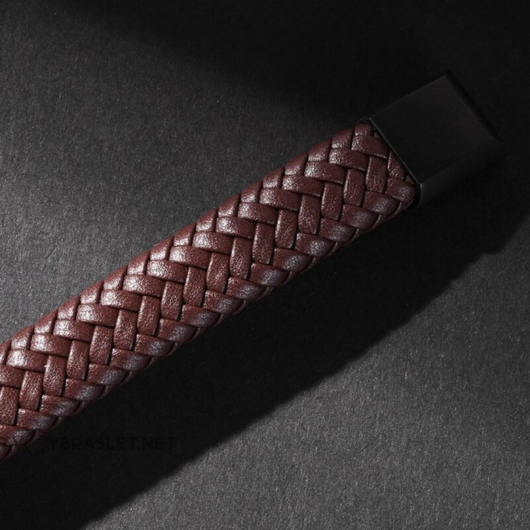 Браслет кожаный с магнитным замком коричневый Твой Браслет LTH296