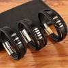 Браслет мужской кожаный многослойный Black Silver Твой Браслет LTH428