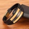 Браслет кожаный многослойный магнитный замок Gold Black Твой Браслет LTH400