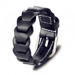 Браслет-ремень кожаный черный Твой Браслет LTH459
