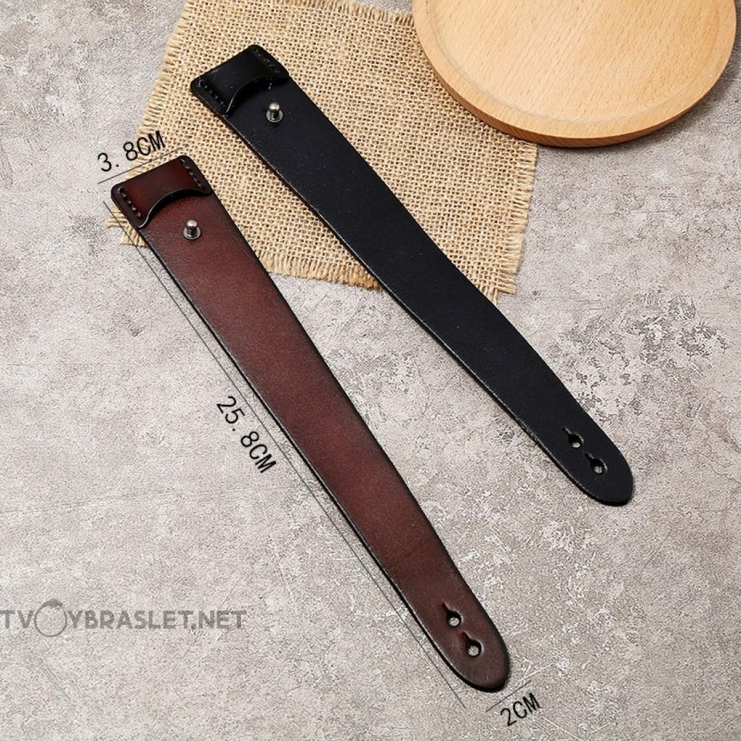 Браслет кожаный широкий коричневый Твой Браслет LTH469