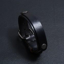 Браслет-ремень черный натуральная кожа Твой Браслет LTH505