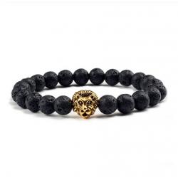 Браслет из натурального камня Лев Твой Браслет Gold Lion NK010