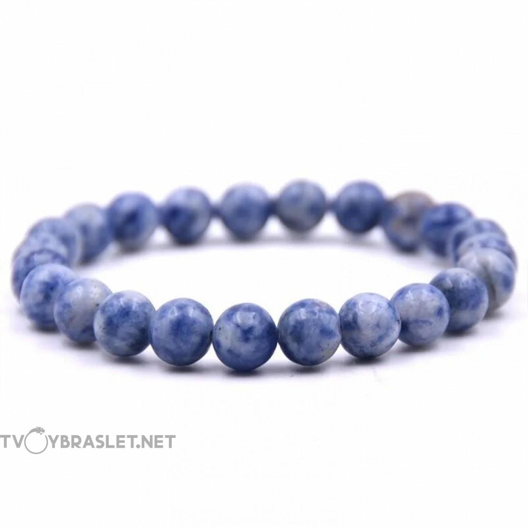 Браслет из натурального камня Синий Содалит Твой Браслет NK044