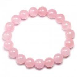 Браслет из натурального камня Розовый Кварц Твой Браслет NK063