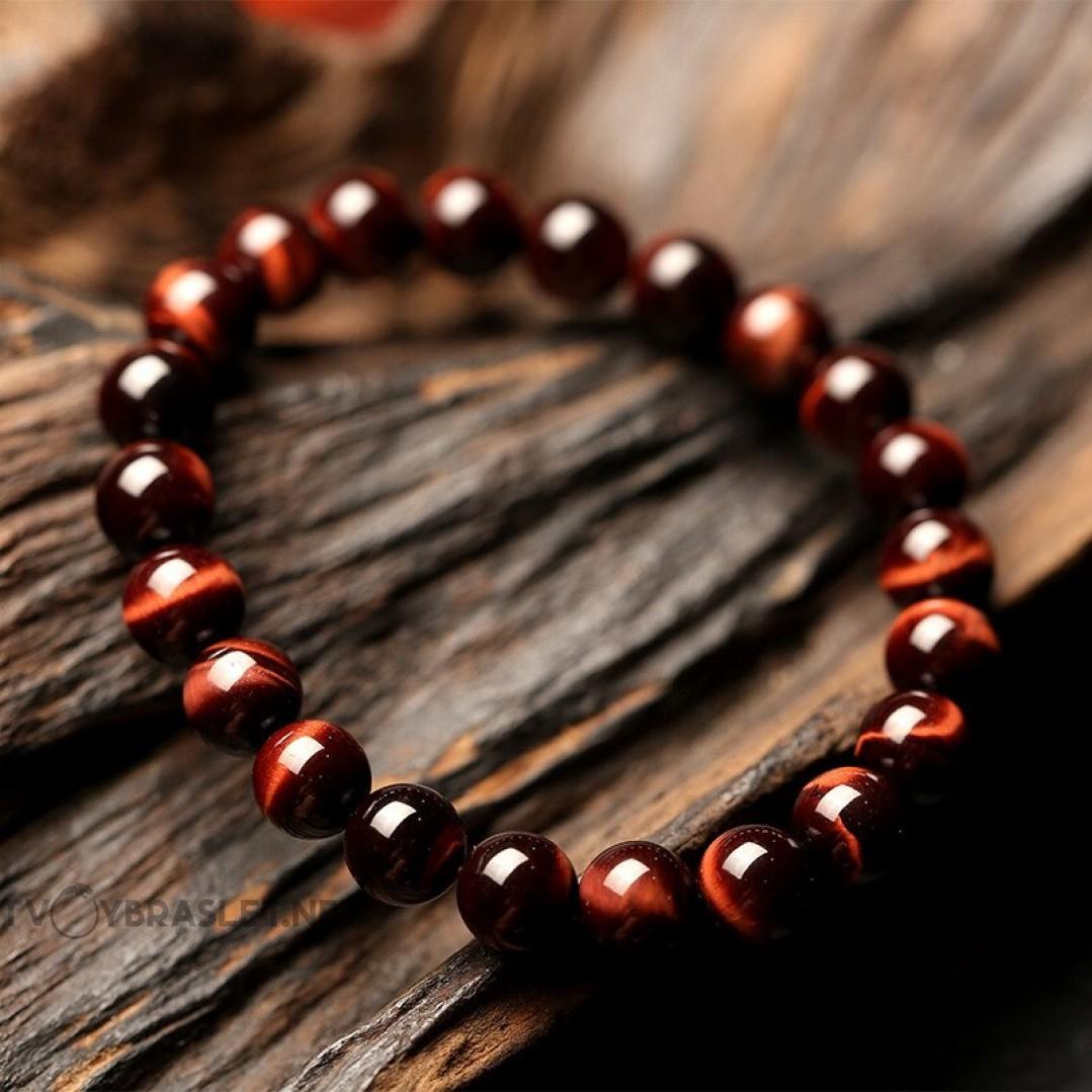 Браслет из натурального камня Красный Тигровый глаз Твой Браслет NK066