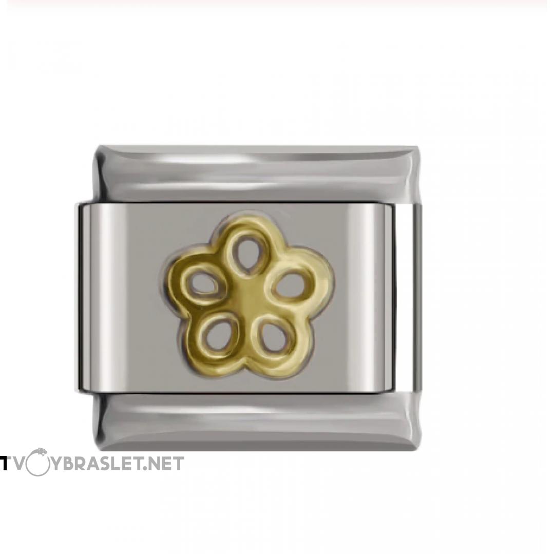 Звено к браслету Nomination 9 мм Золотой цветок NMN001-004