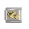 Звено к браслету Nomination 9 мм Два золотых сердца NMN001-007