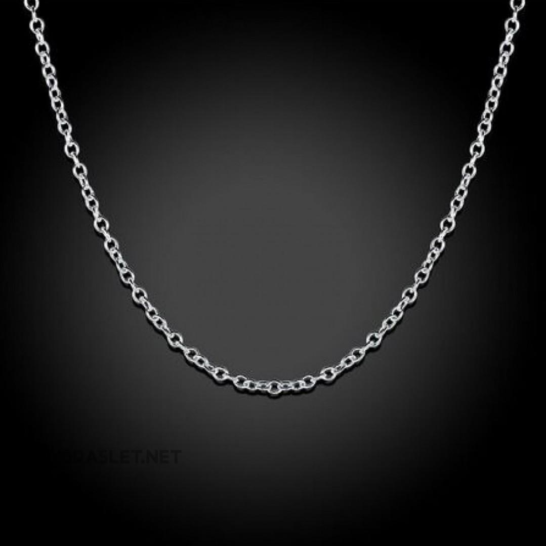 Цепь женская 1 мм серебро 925 50 см SCH101