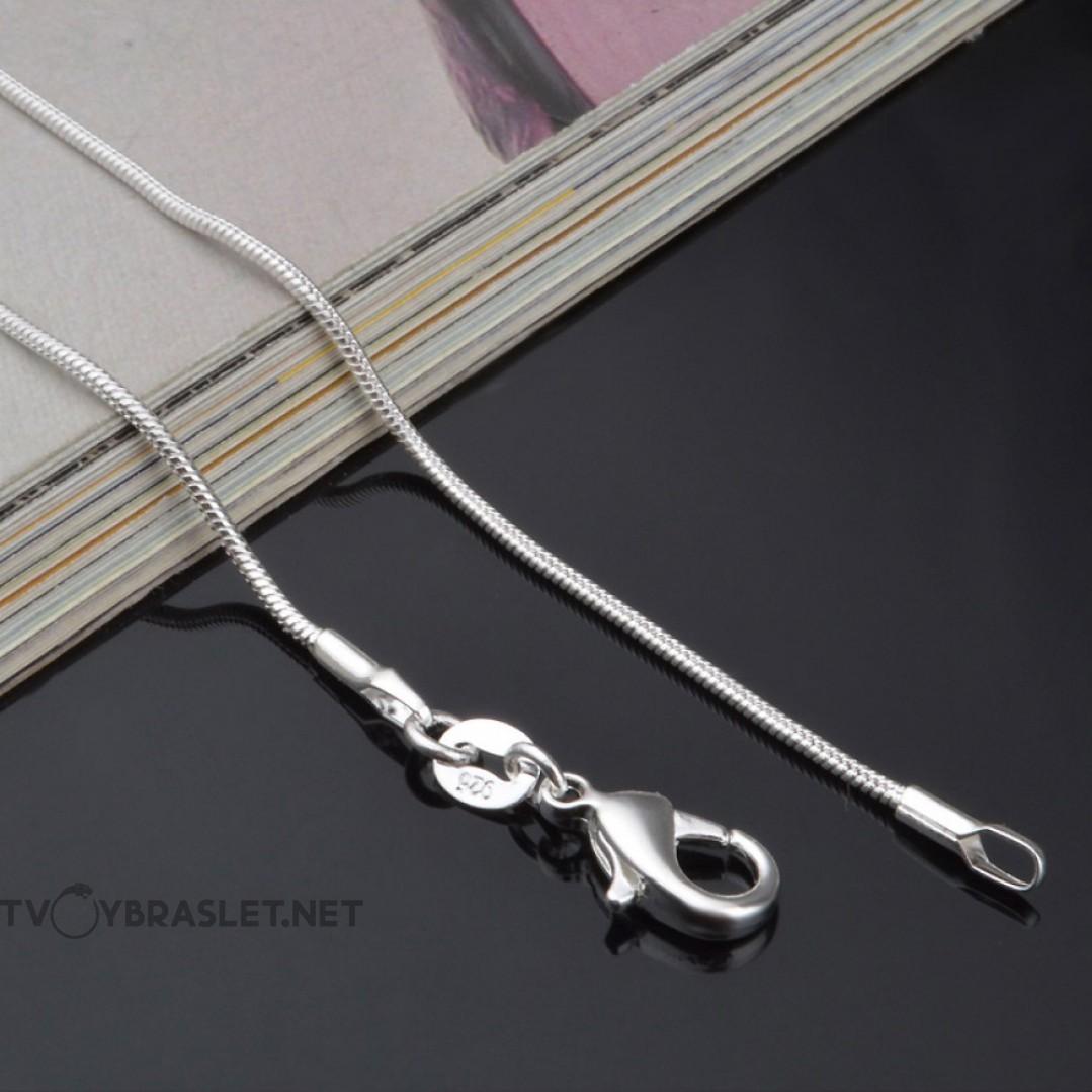 Цепь снейк женская 1 мм серебро 925 50 см SCH102