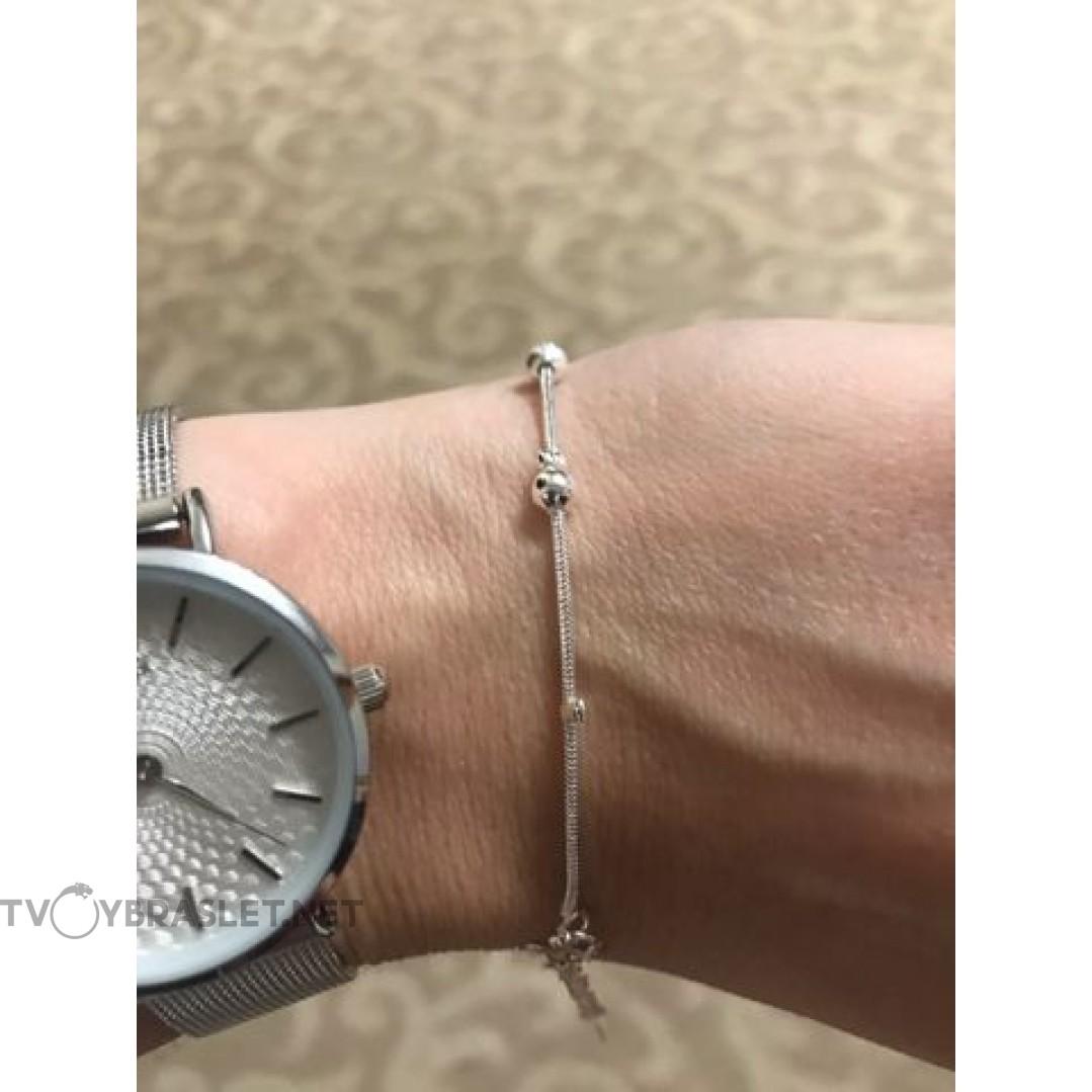 Браслет серебряный женский SLV102