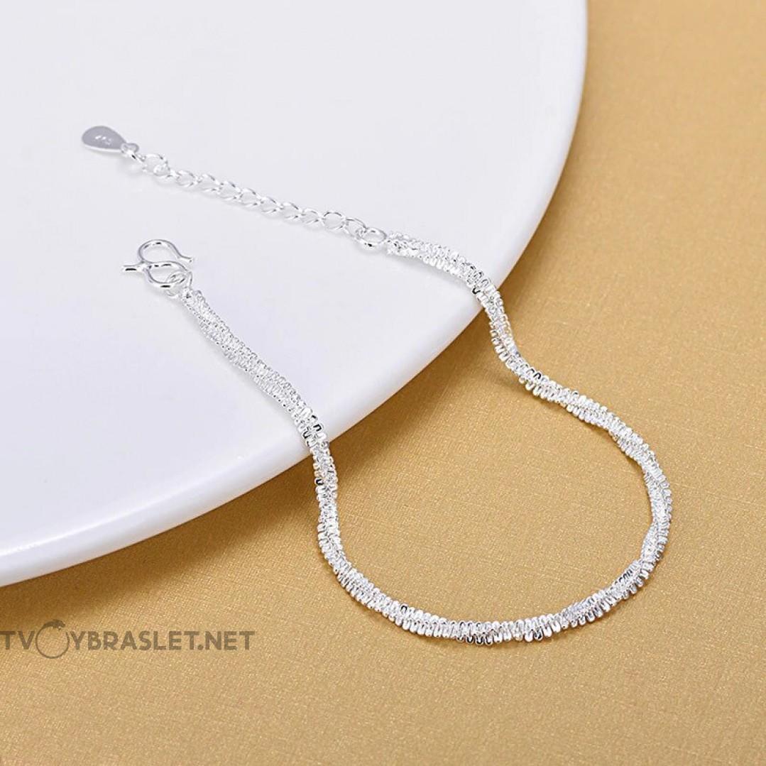 Браслет серебряный женский SLV104