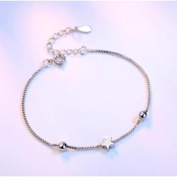 Браслет серебряный женский Звездочка SLV110
