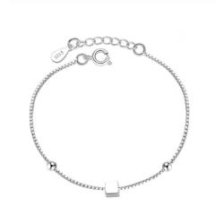 Браслет серебряный женский Кубик SLV111