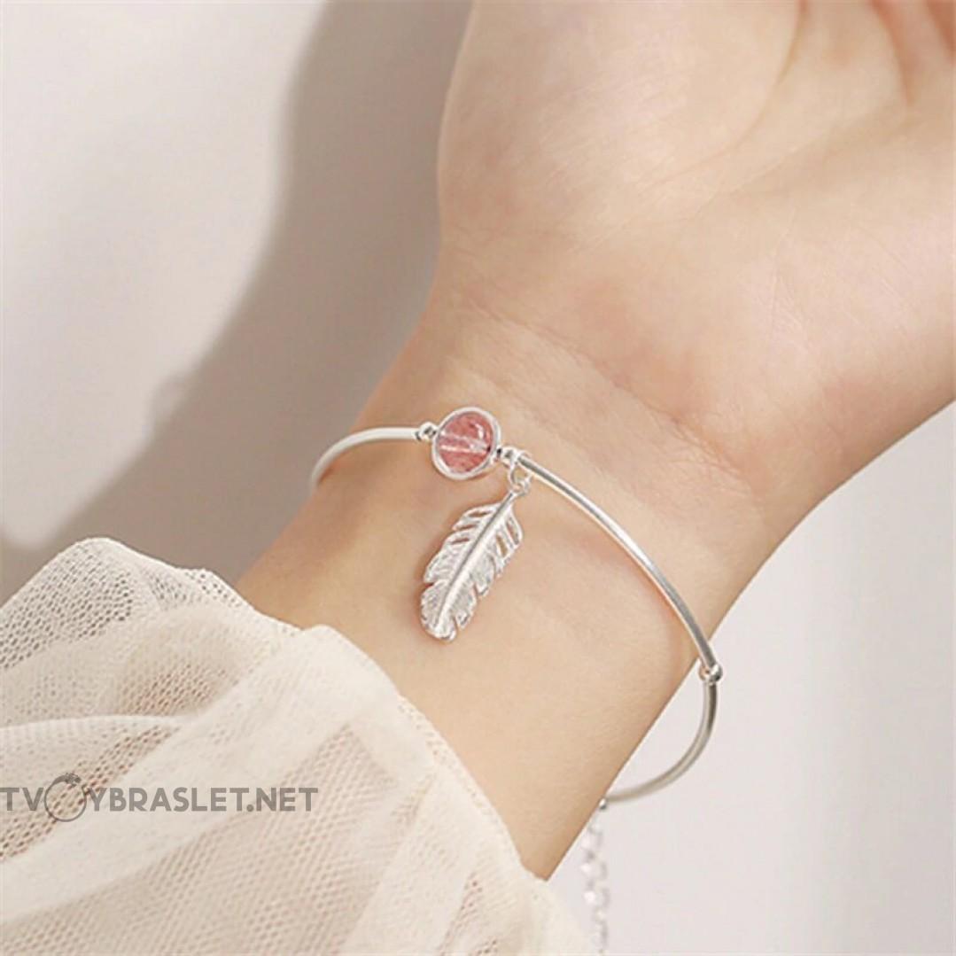 Браслет серебряный женский Перо SLV112