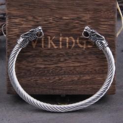 Браслет из нержавеющей стали Кольцо Драконы Vikings Твой Браслет STL001