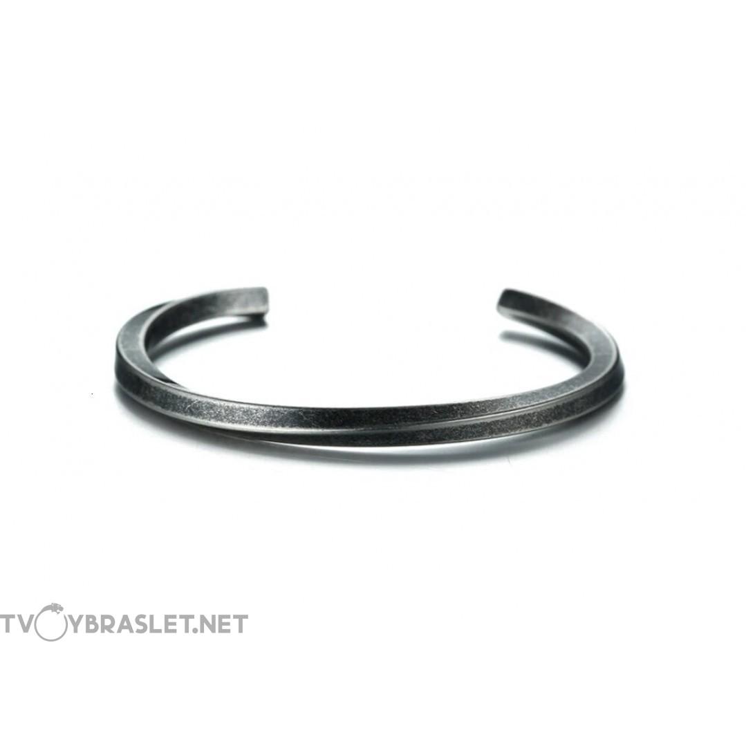 Браслет кольцо из стали Твой Браслет Antique Silver Color STL008