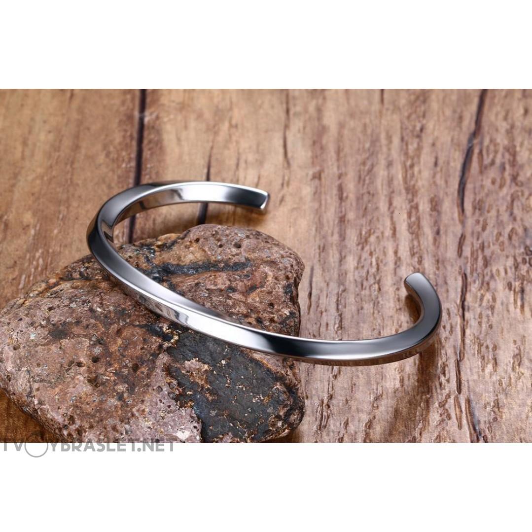 Браслет кольцо из стали Твой Браслет Silver Color STL010
