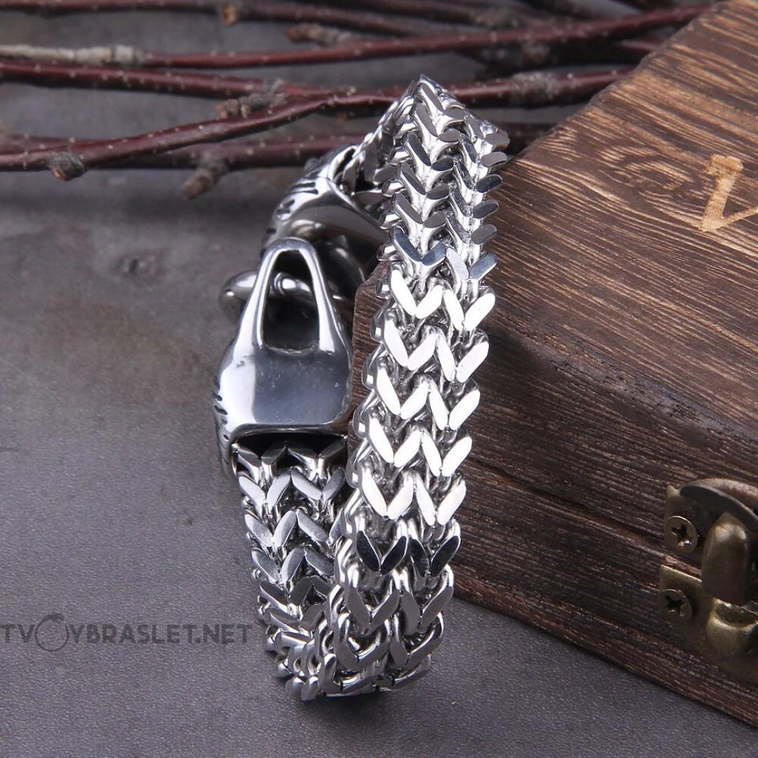 Браслет стальной с волками Vikings Твой Браслет STL027